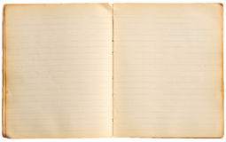 stare notatnik strony Fotografia Stock
