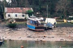 Stare łodzie przy odpoczynkiem Fotografia Royalty Free