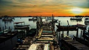 Stare łodzie rybackie Zdjęcia Stock