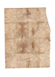 Stare papierowe tekstury na białym tle Zdjęcie Stock