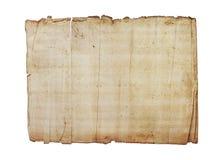 Stare papierowe tekstury na białym tle Obrazy Royalty Free