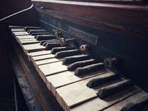 stare pianino Zdjęcia Royalty Free