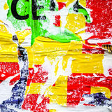 Stare plakata grunge tekstury Obrazy Royalty Free
