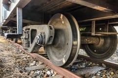 stare pociągi kół Zdjęcie Royalty Free