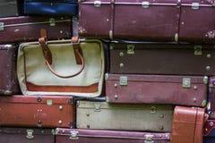Stare rocznika torby walizki Obrazy Stock
