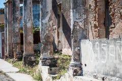 Stare rozdrabnianie kolumny, promienie i zdjęcie royalty free
