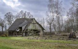 stare ruiny stodole obrazy stock