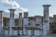Stare ruiny w Pompeii Włochy obrazy royalty free