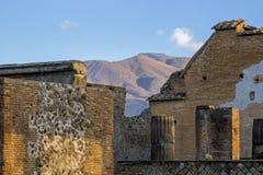 Stare ruiny w Pompeii Włochy zdjęcie stock