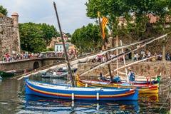 Stare rybak łodzie Zdjęcia Royalty Free