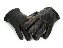 Stare rzemienne rękawiczki Obraz Royalty Free
