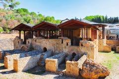 Stare rzymskie ruiny Termiczny zdroju piazza Armerina zdjęcie royalty free