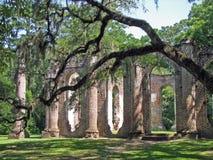 Stare Sheldon kościół ruiny obraz royalty free