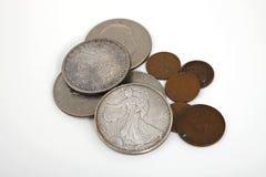Stare srebne monety Fotografia Stock