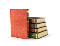 stare stosu książek royalty ilustracja