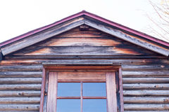 Stare szarość sosnowa drewniana ściana Obraz Royalty Free