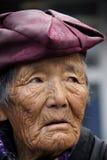 Stare Tybetańskie kobiety out dla waner Fotografia Royalty Free