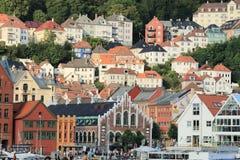 Stare ulicy, Bergen Obraz Royalty Free
