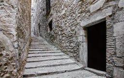 Stare ulicy Girona Zdjęcia Royalty Free