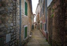 Stare ulicy Herceg Novi stary miasteczko zdjęcia royalty free