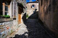 Stare ulicy Rovinj Chorwacja zdjęcie stock