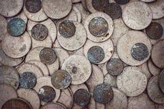 Stare utleniać monety zdjęcia royalty free