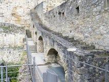 Stare ćwiartki i fortyfikacje w Luksemburg Zdjęcie Stock