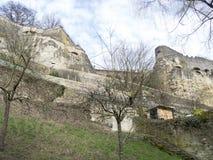 Stare ćwiartki i fortyfikacje w Luksemburg Zdjęcie Royalty Free