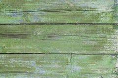 Stare zielone drewniane deski Fotografia Stock