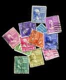 stare znaczki prezydenta. zdjęcie royalty free