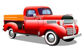 Starego ładunku retro samochód na białym tle Zdjęcie Stock