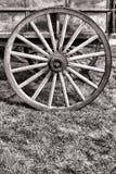 Starego Amerykańskiego Preryjnego Skuneru Furgonu Drewniany Koło Obraz Stock