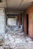 Starego betonu zawalony budynek zdjęcie stock