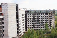 Starego betonu zawalony budynek obraz stock