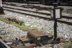 Starego bocznika maszynowy tajlandzki pociąg Obrazy Stock