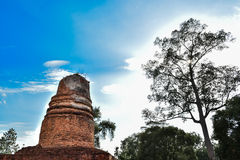 Starego Chedi Wat aranyik Buddyjska świątynia Phitsanulok Thailand Obrazy Stock