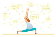 Starego człowieka ćwiczy joga Zdjęcie Royalty Free
