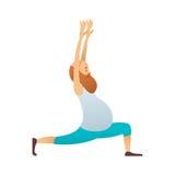 Starego człowieka ćwiczy joga Obrazy Stock