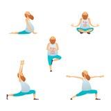 Starego człowieka ćwiczy joga Obraz Royalty Free