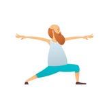Starego człowieka ćwiczy joga Obrazy Royalty Free
