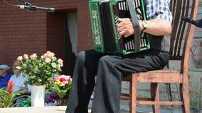 Starego człowieka akordeon zdjęcie wideo
