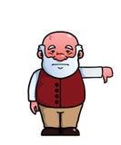 Starego człowieka dawać kciuki zestrzela Zdjęcia Stock