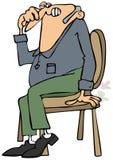 Starego człowieka omijania gaz ilustracji