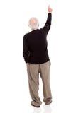 Starego człowieka wskazywać Zdjęcia Stock