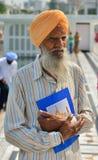 Starego człowieka sikhijski Portret obraz royalty free