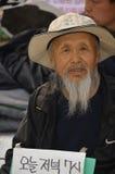 Starego człowieka target57_0_ Zdjęcia Royalty Free