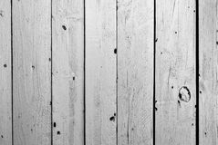 Starego czarny i biały koloru drewniany ogrodzenie Obrazy Stock