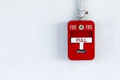 Starego czerwieni pudełka pożarniczy alarm obraz stock