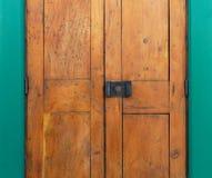 Starego drewnianego drzwiowego kędziorka grunge stylu retro domowy kędziorek Zdjęcie Stock