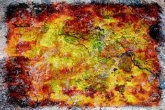 Starego koloru grunge abstrakcjonistyczny tło z teksturą Fotografia Stock